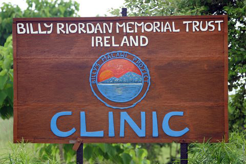 The sign outside the clinic